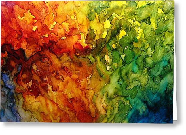 Surreal Landscape Mixed Media Greeting Cards - Light Of Day Greeting Card by Henry Parsinia