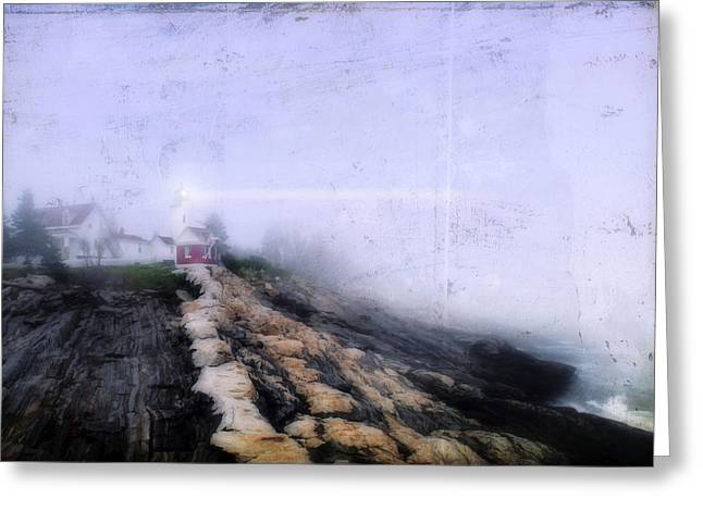 Foggy Ocean Greeting Cards - Light of Hope Greeting Card by Darren Fisher