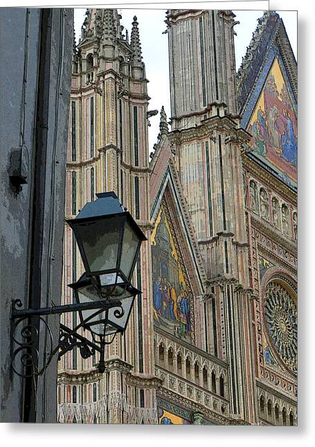 Orvieto Greeting Cards - Light of Orvieto Greeting Card by Mindy Newman