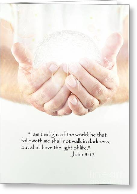 Human Spirit Greeting Cards - Light of the World Greeting Card by Stephanie Frey