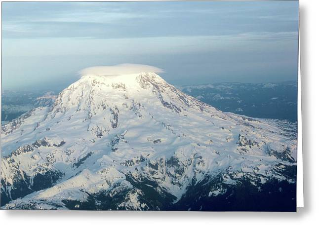 Self-perception Greeting Cards - Light On The Mountain Top Greeting Card by Dennis Velco