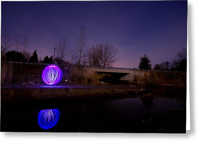 Orb* Greeting Cards - Light Orb Reflection Greeting Card by Cale Best
