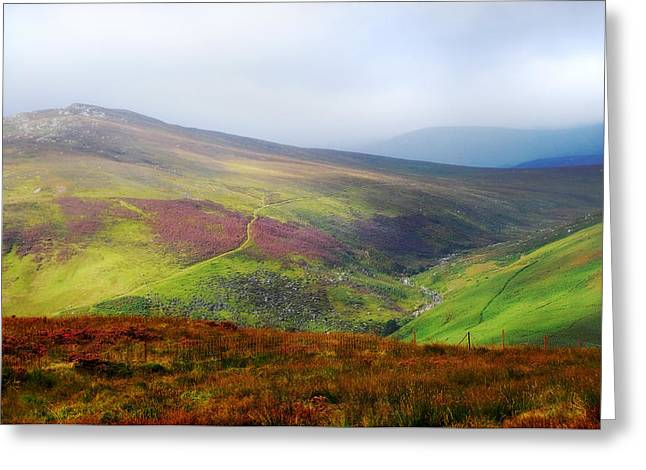 Light Over Wicklow Hills. Ireland Greeting Card by Jenny Rainbow