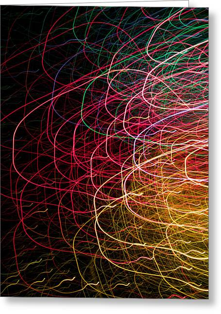 Diode Greeting Cards - Light Painting 6 Greeting Card by Hakon Soreide