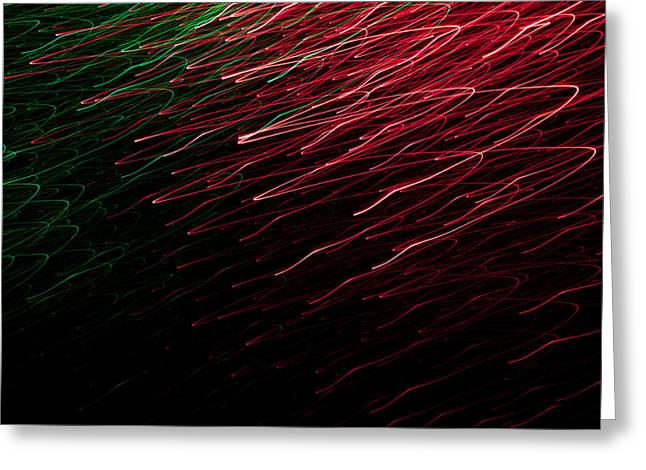 Changing Colour Greeting Cards - Light Painting 8 Greeting Card by Hakon Soreide