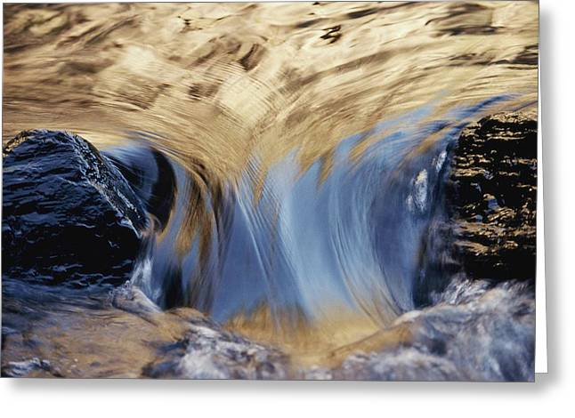 Light Reflected On Water Flowing Greeting Card by Jason Edwards