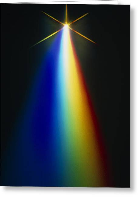 Spectrum Greeting Cards - Light Spectrum From Electronic Flash Greeting Card by David Parker