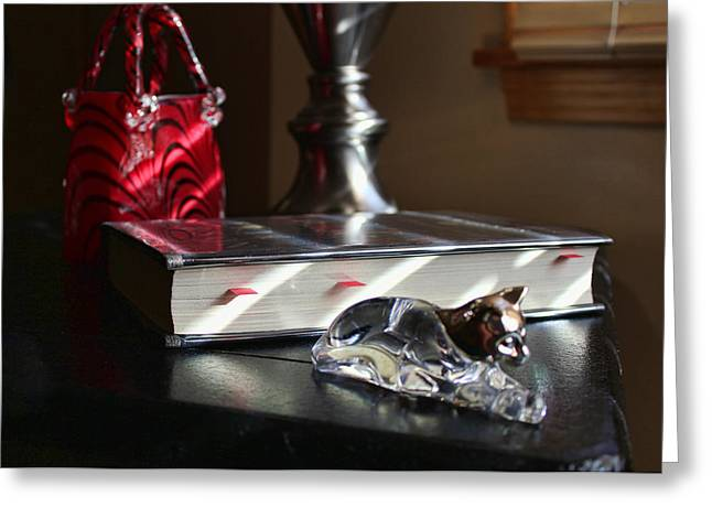 Pewter Greeting Cards - Light Stripes Greeting Card by Peter Chilelli