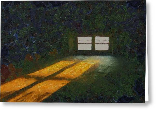 Light Through Pain Greeting Card by Aaron Stokes