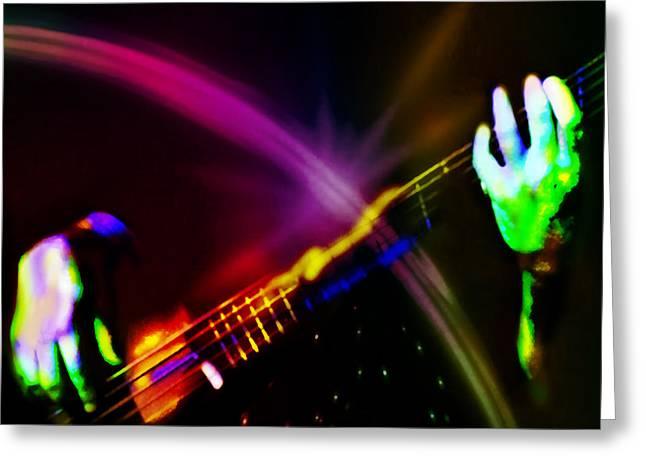 Bass Musician Greeting Cards - Light Travels Greeting Card by Ken Walker