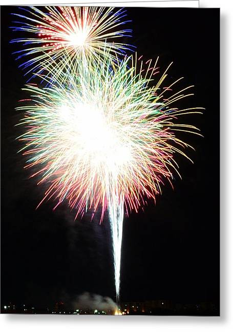 Pyrotechnics Greeting Cards - Light up the Night Greeting Card by David Morefield