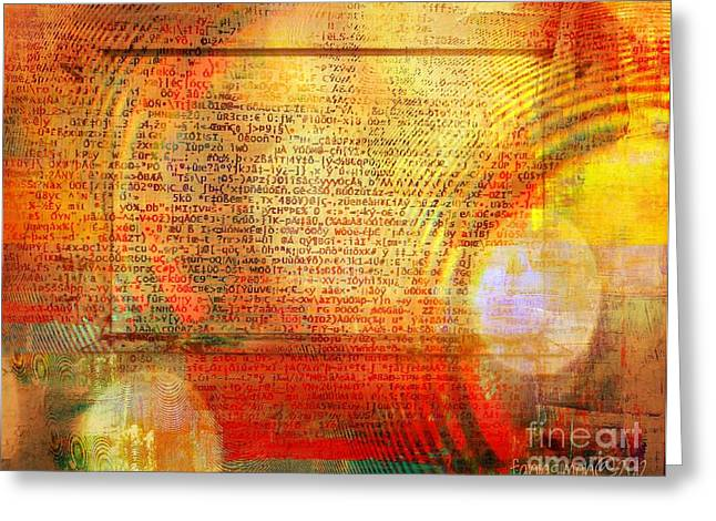 Define Mixed Media Greeting Cards - Light Word Greeting Card by Fania Simon