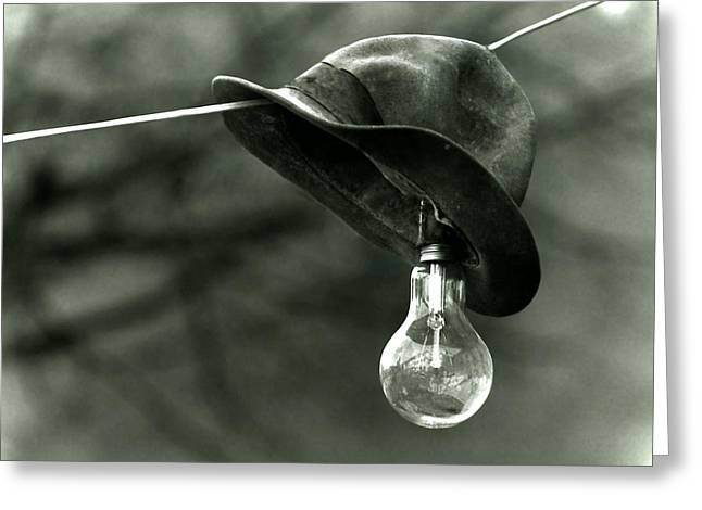 Improvisation Greeting Cards - Lightbulb Greeting Card by Emanuel Tanjala