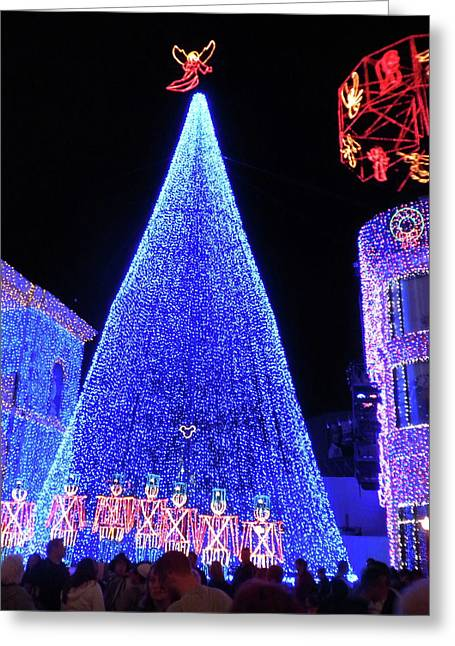Lighted Xmas Tree Walt Disney World Greeting Card by Thomas Woolworth