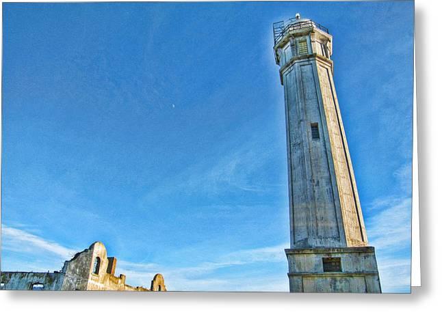 Alcatraz Lighthouse Greeting Cards - Lighthouse-Alcatraz Greeting Card by Douglas Barnard