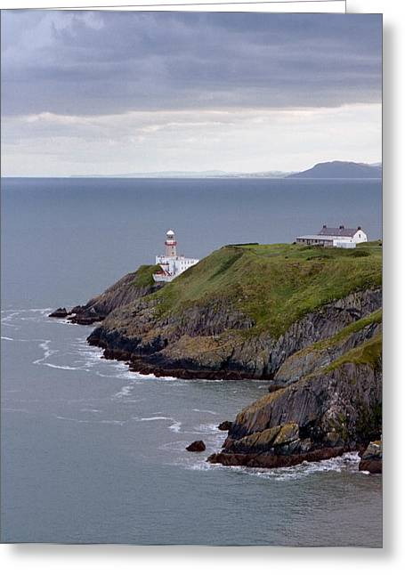 Radar Waves Greeting Cards - Lighthouse and Sea Greeting Card by Marcio Faustino