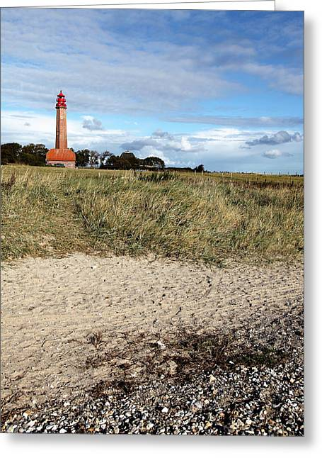 Insel Greeting Cards - Lighthouse Fluegge Greeting Card by Falko Follert