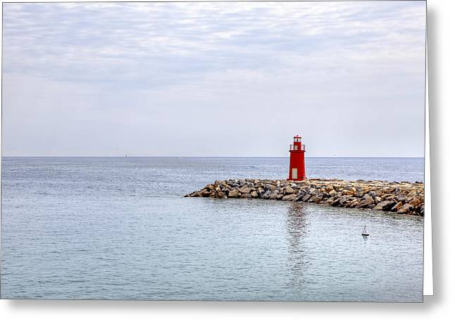 Imperia Greeting Cards - Lighthouse in Porto Maurizio Greeting Card by Joana Kruse