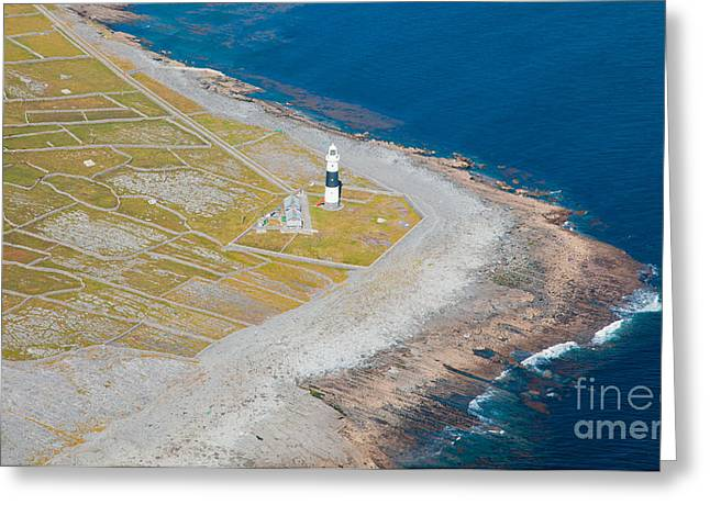 Aran Islands Greeting Cards - Lighthouse on Inisheer island Greeting Card by Gabriela Insuratelu