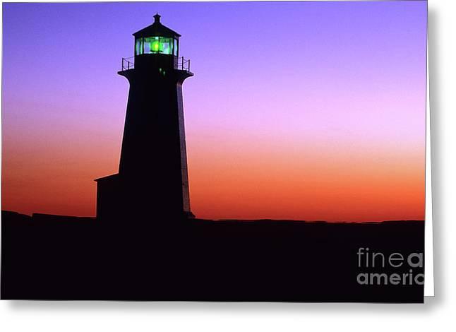 Nova Scotia Photographers Greeting Cards - Lighthouse Peggys Cove Greeting Card by Bob Christopher