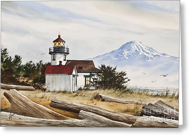 Lighthouse Prints Greeting Cards - Lighthouse Splendor Greeting Card by James Williamson