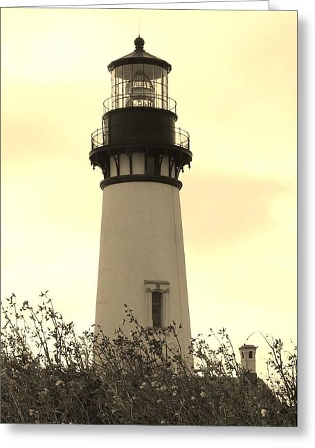 Lighthouse Tranquility Greeting Card by Athena Mckinzie