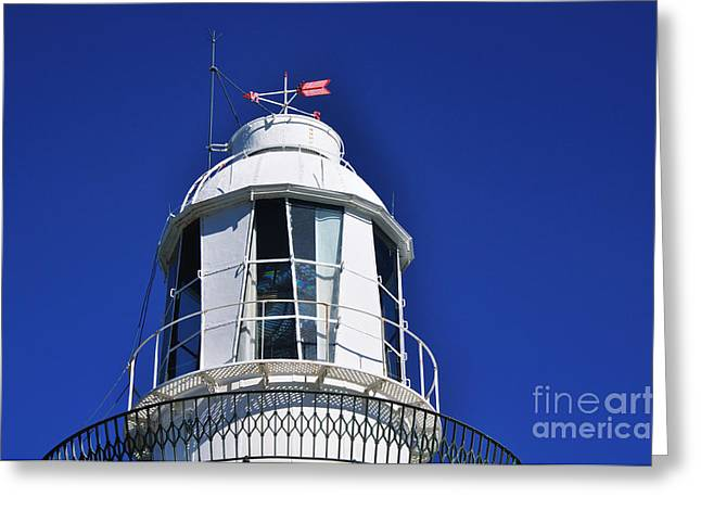 Cast Concrete Greeting Cards - Lighthouse Turret - Close up Greeting Card by Kaye Menner