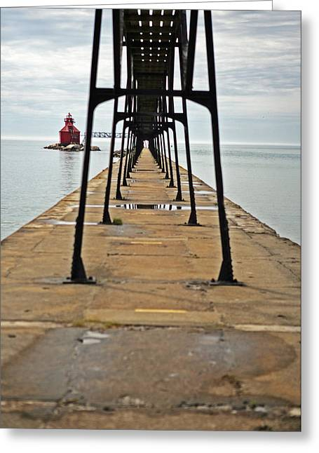 Sturgeon Bay Greeting Cards - Lighthouse Walk Greeting Card by Ty Helbach