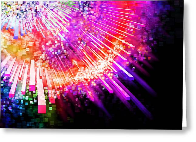 Website Greeting Cards - Lighting Explode Greeting Card by Setsiri Silapasuwanchai