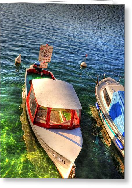 Village By The Sea Greeting Cards - Lightly Rocking Greeting Card by Barry R Jones Jr
