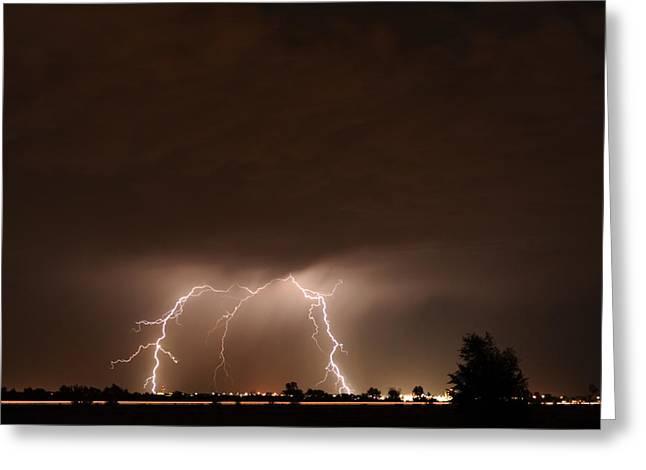 Lightning Bolt Pictures Greeting Cards - Lightning 10 Greeting Card by Jennifer Brindley