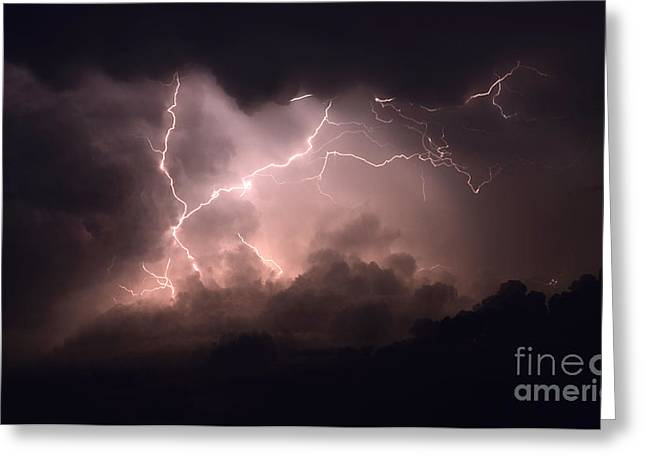 Lightning Photographer Greeting Cards - Lightning 2 Greeting Card by Bob Christopher