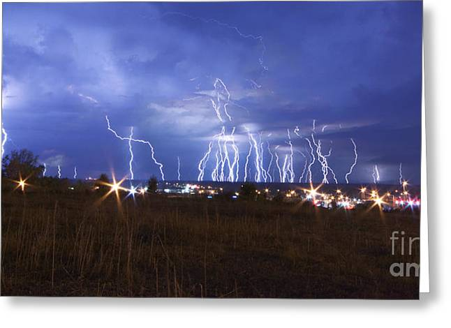 Centreville Greeting Cards - Lightning - 5377 Greeting Card by Chuck Smith