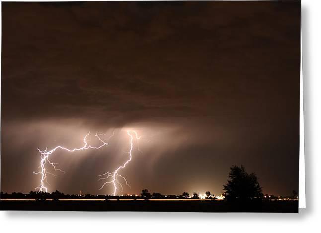 Lightning Bolt Pictures Greeting Cards - Lightning 8 Greeting Card by Jennifer Brindley