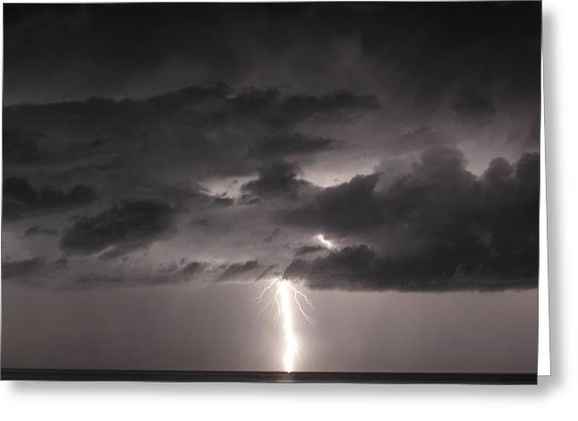 Lightning Bolt Pictures Greeting Cards - Lightning Greeting Card by Alison Quine