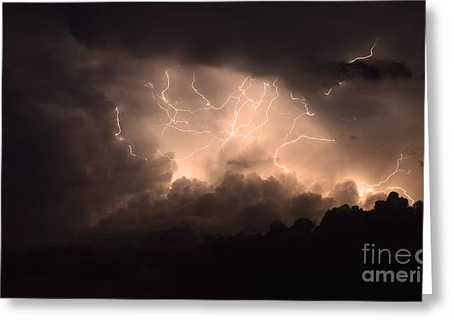 Lightning Greeting Card by Bob Christopher