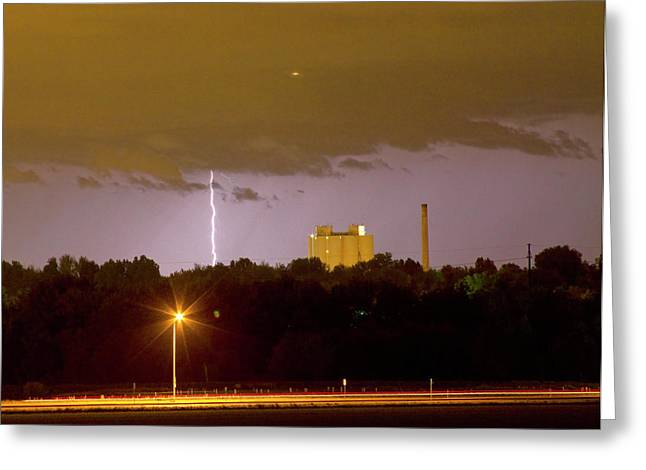 Images Lightning Greeting Cards - Lightning Bolts Striking in Loveland Colorado Greeting Card by James BO  Insogna
