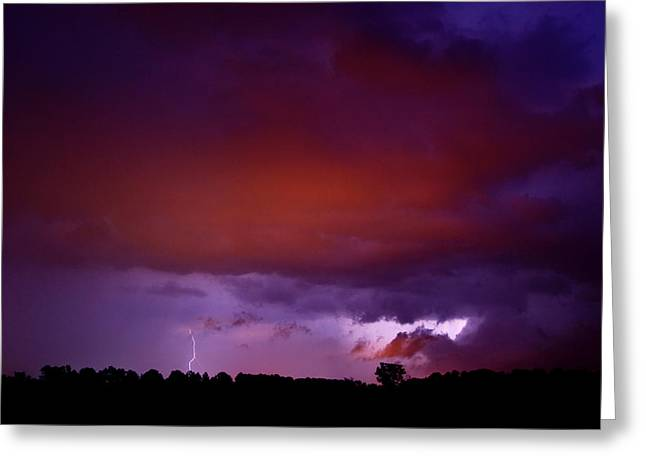 Lightning Landscapes Greeting Cards - Lightning Greeting Card by Cale Best