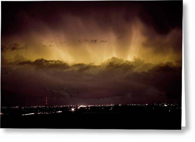 The Lightning Man Greeting Cards - Lightning Cloud Burst Boulder County Colorado IM29 Greeting Card by James BO  Insogna