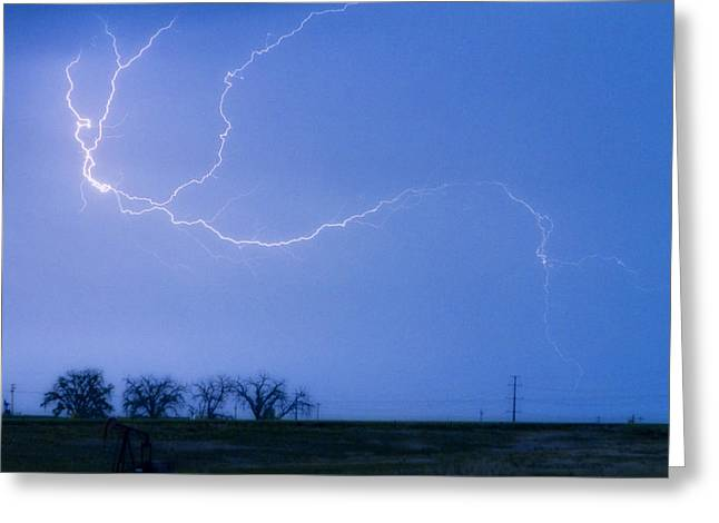 Images Lightning Greeting Cards - Lightning Crawler Greeting Card by James BO  Insogna
