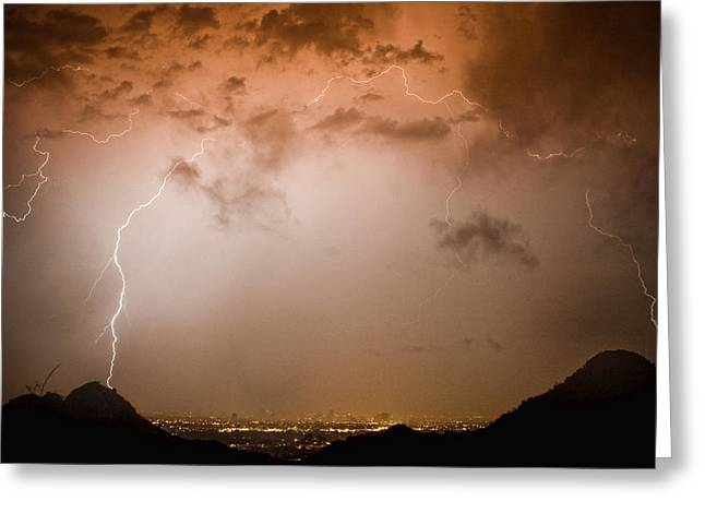 Lightning Dome Greeting Card by James BO  Insogna
