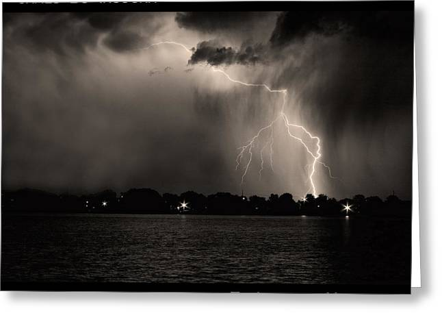 Lightning Wall Art Greeting Cards - Lightning Energy Poster Print Greeting Card by James BO  Insogna