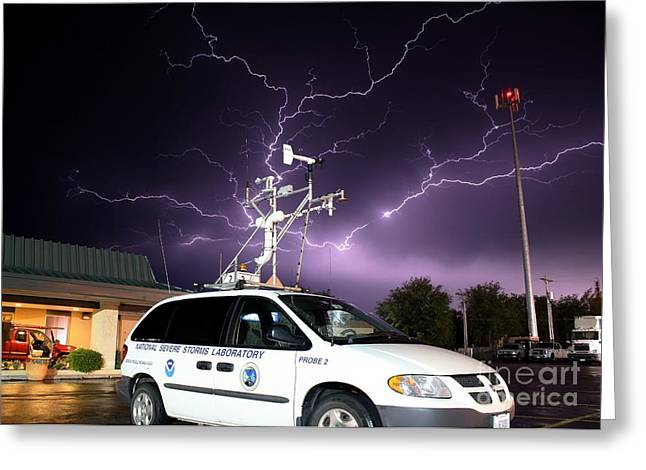 Enid Greeting Cards - Lightning, Nssl Mobile Mesonet Greeting Card by Science Source