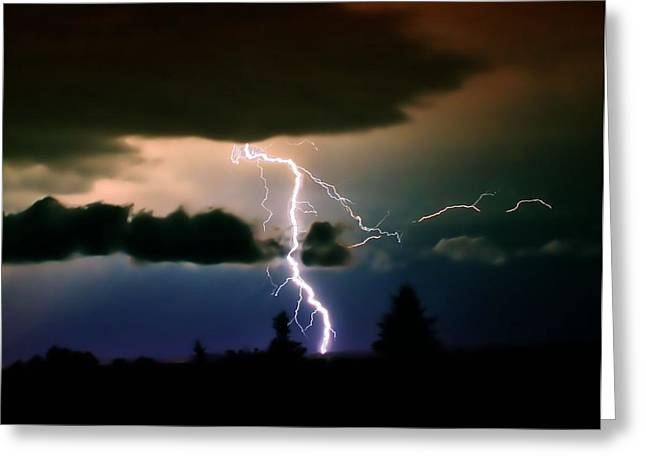 Lightning Over The Plains I Greeting Card by Ellen Heaverlo