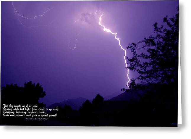 Lightning Over The Rogue Valley Greeting Card by Mick Anderson