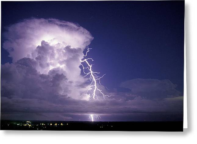 Electrical Storm Greeting Cards - Lightning Greeting Card by Pekka Parviainen