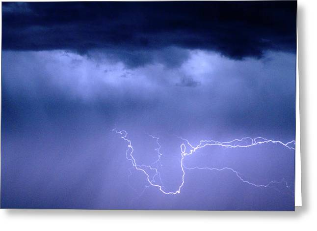 Lightning Wall Art Greeting Cards - Lightning Rodeo Greeting Card by James BO  Insogna
