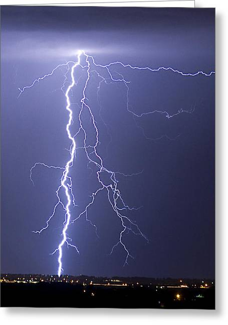 Lightning Strikes Greeting Card by James BO  Insogna