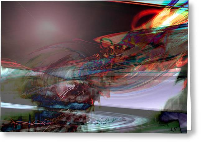 Abstract Expression Greeting Cards - Lightning Strikes Greeting Card by Linda Sannuti