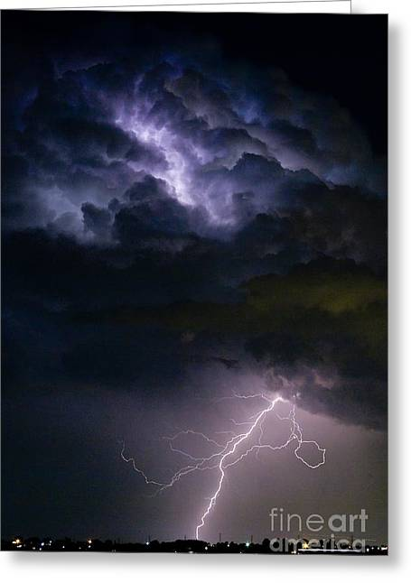 Lightning Photography Photographs Greeting Cards - Lightning Thunderhead Storm Rumble Greeting Card by James BO  Insogna